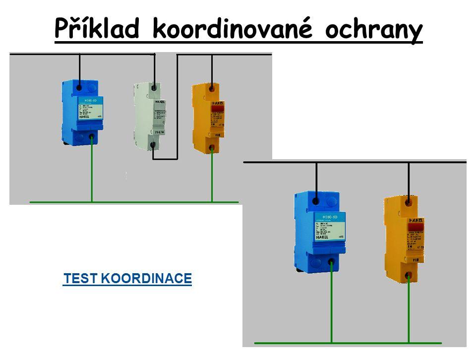 TEST KOORDINACE Příklad koordinované ochrany