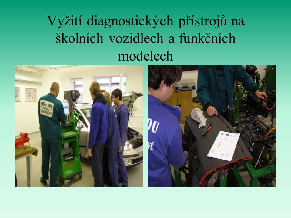 Vyžití diagnostických přístrojů na školních vozidlech a funkčních modelech