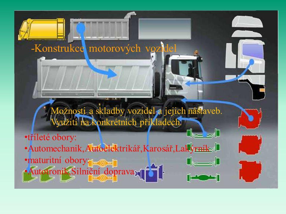 -Konstrukce motorových vozidel Možnosti a skladby vozidel a jejich nástaveb.
