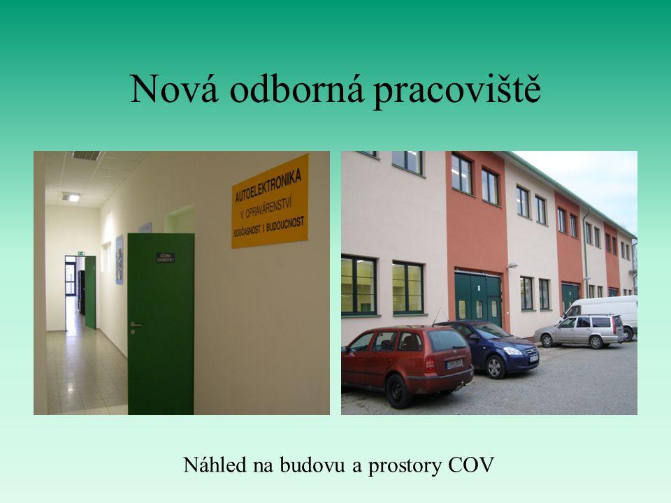 Nová odborná pracoviště Náhled na budovu a prostory COV