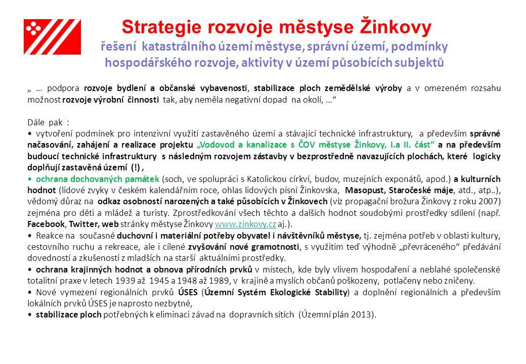 Strategie rozvoje městyse Žinkovy Prameny a podklady : 1.Územní plán městyse Žinkovy 2013, autorka, Ing.arch.