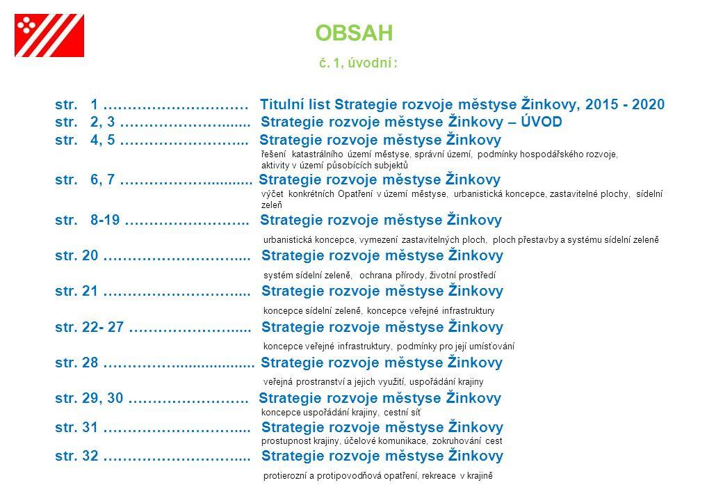 1.OBSAH č. 1, úvodní : str.
