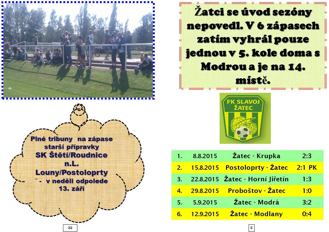 532 Plné tribuny na zápase starší přípravky SK Štětí/Roudnice n.L.