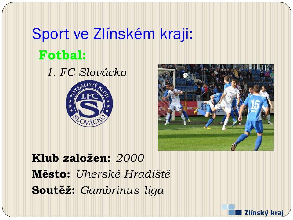 Sport ve Zlínském kraji: Klub založen: 2000 Město: Uherské Hradiště Soutěž: Gambrinus liga Fotbal: 1.