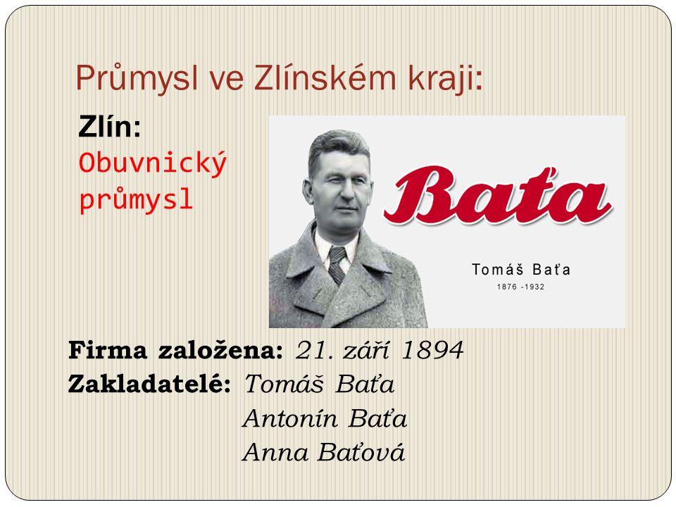 Průmysl ve Zlínském kraji: Založeno: 1945 Největší výrobce pneumatik v Evropě.