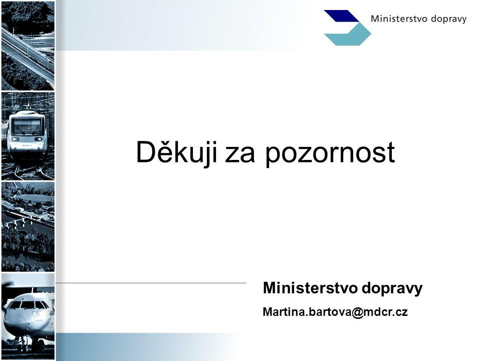 Děkuji za pozornost Ministerstvo dopravy Martina.bartova@mdcr.cz