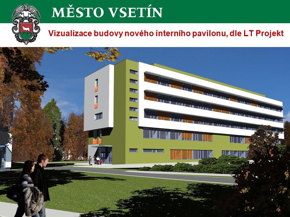 Vizualizace budovy nového interního pavilonu, dle LT Projekt