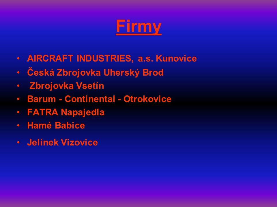 Firmy AIRCRAFT INDUSTRIES, a.s.
