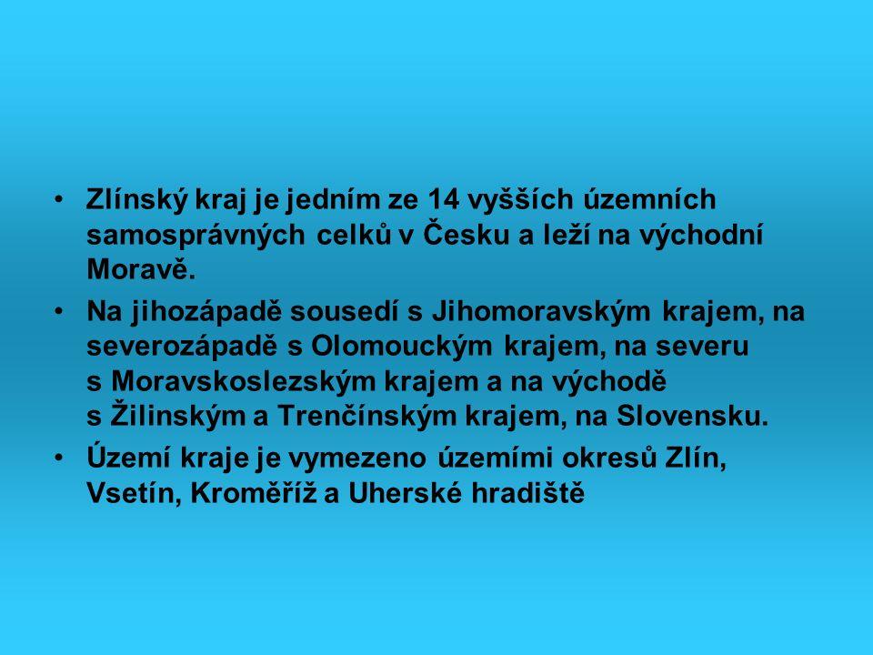 Zlínský kraj je jedním ze 14 vyšších územních samosprávných celků v Česku a leží na východní Moravě. Na jihozápadě sousedí s Jihomoravským krajem, na