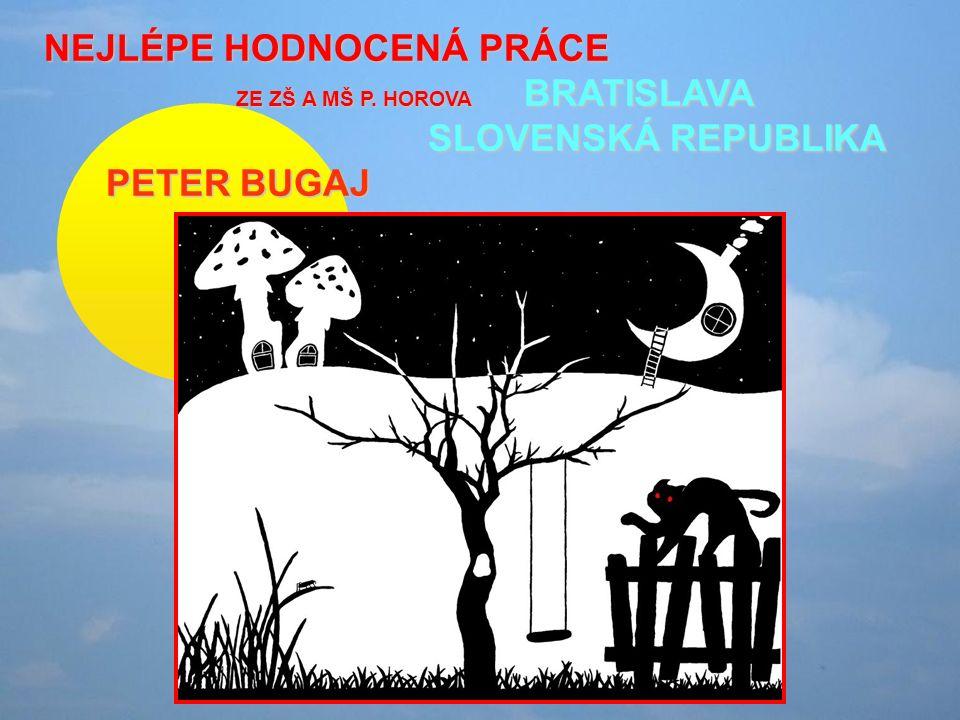 NEJLÉPE HODNOCENÁ PRÁCE ZE ZŠ A MŠ P. HOROVA BRATISLAVA SLOVENSKÁ REPUBLIKA PETER BUGAJ PETER BUGAJ