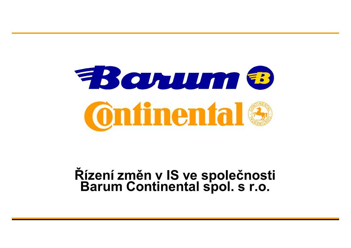 Řízení změn v IS ve společnosti Barum Continental spol. s r.o.