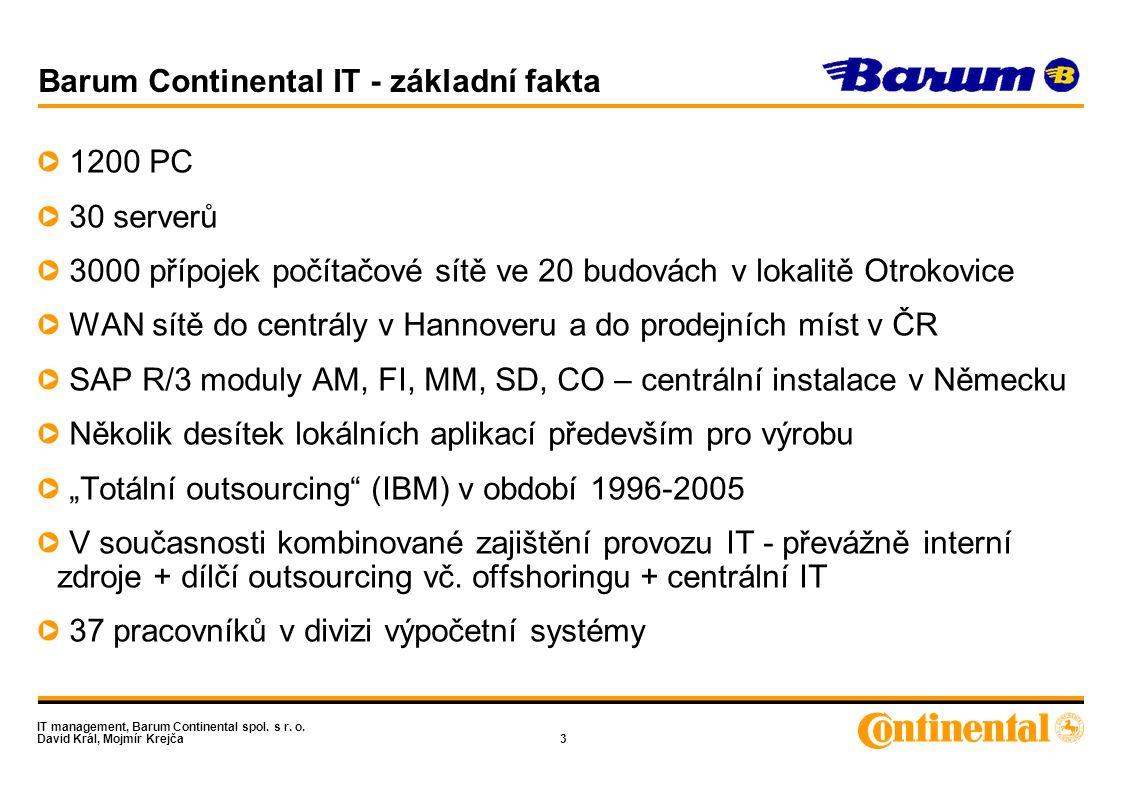 IT management, Barum Continental spol.s r. o. David Král, Mojmír Krejča24 Děkujeme za pozornost .