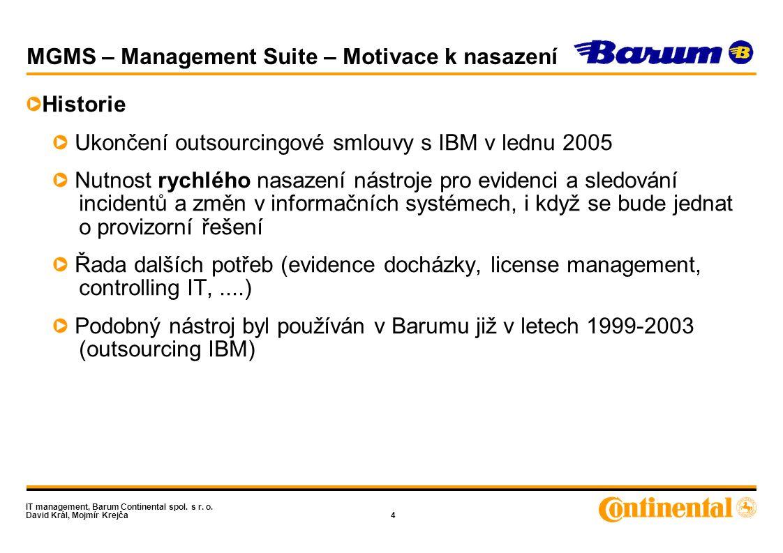 IT management, Barum Continental spol.s r. o.