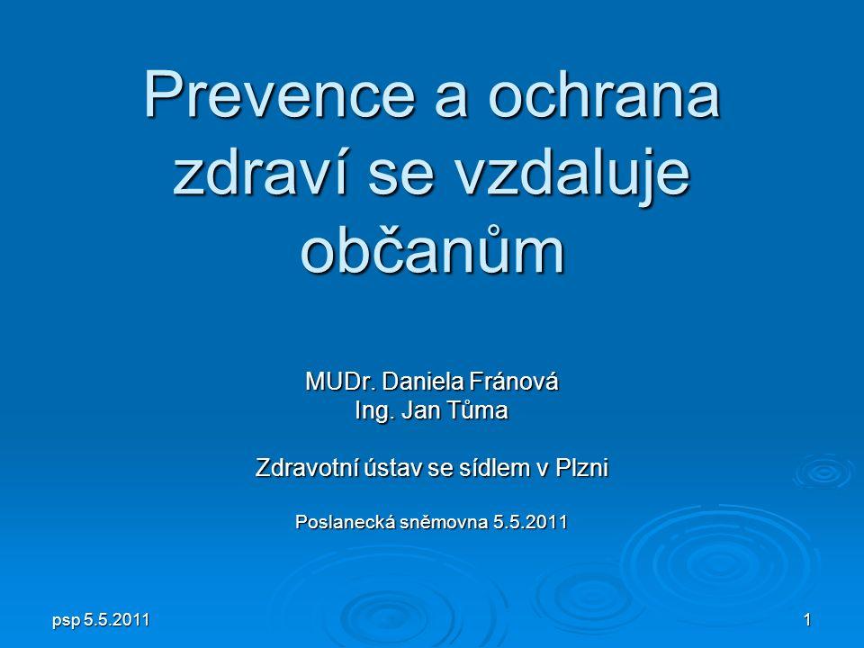 psp 5.5.2011 1 Prevence a ochrana zdraví se vzdaluje občanům MUDr.
