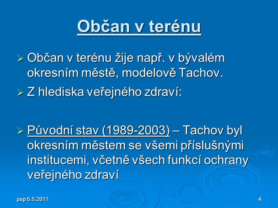 psp 5.5.20114 Občan v terénu  Občan v terénu žije např.