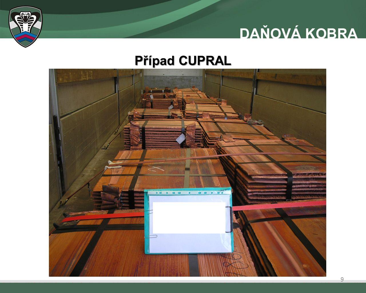 Informace k již medializovaným případům Případ ZLOMKY Krácení DPH při obchodování s drahými kovy.