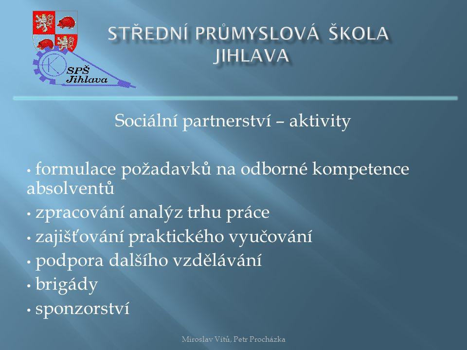Potřeba pracovníků podle skupin povolání Miroslav Vítů, Petr Procházka