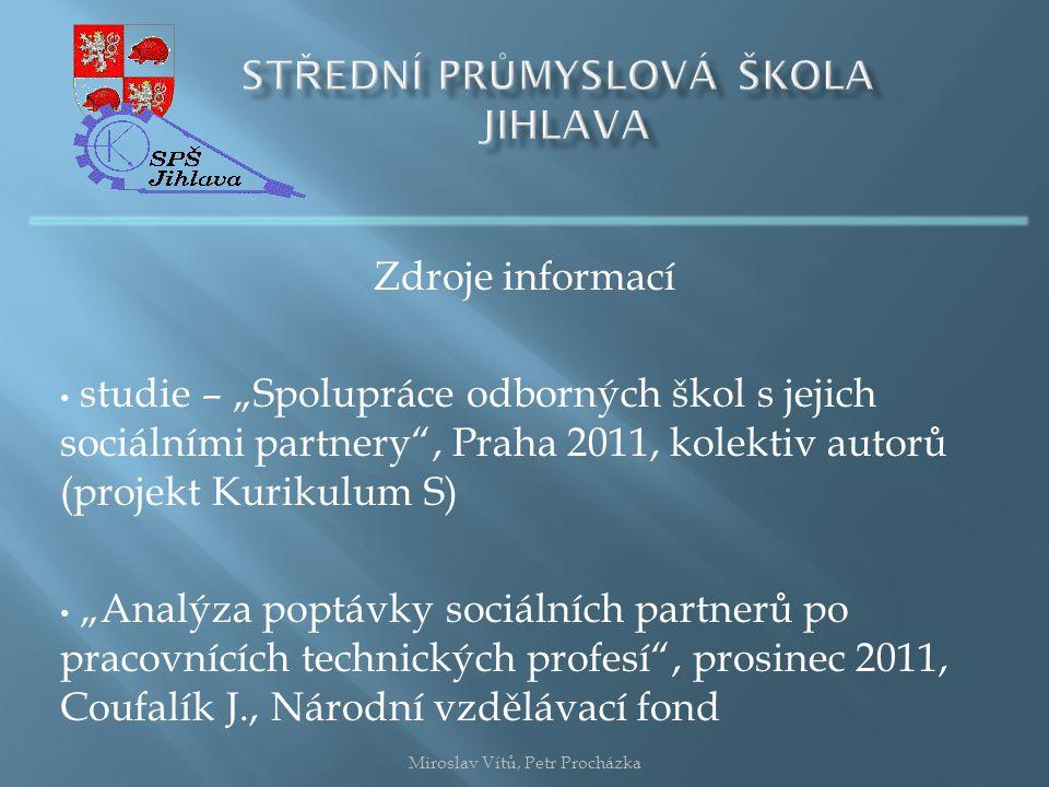 Kritéria výběru sociálního partnera Miroslav Vítů, Petr Procházka