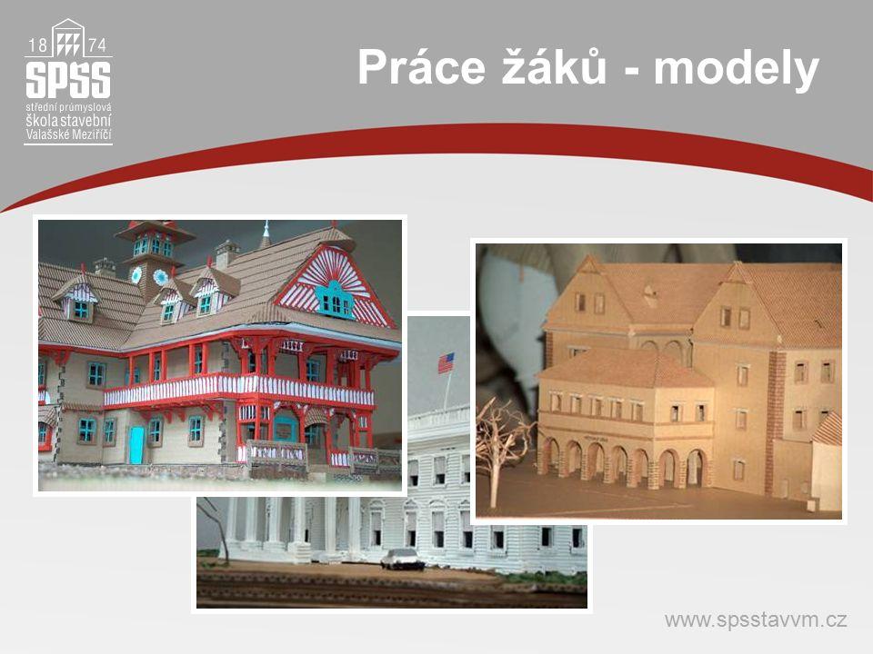Práce žáků - modely www.spsstavvm.cz