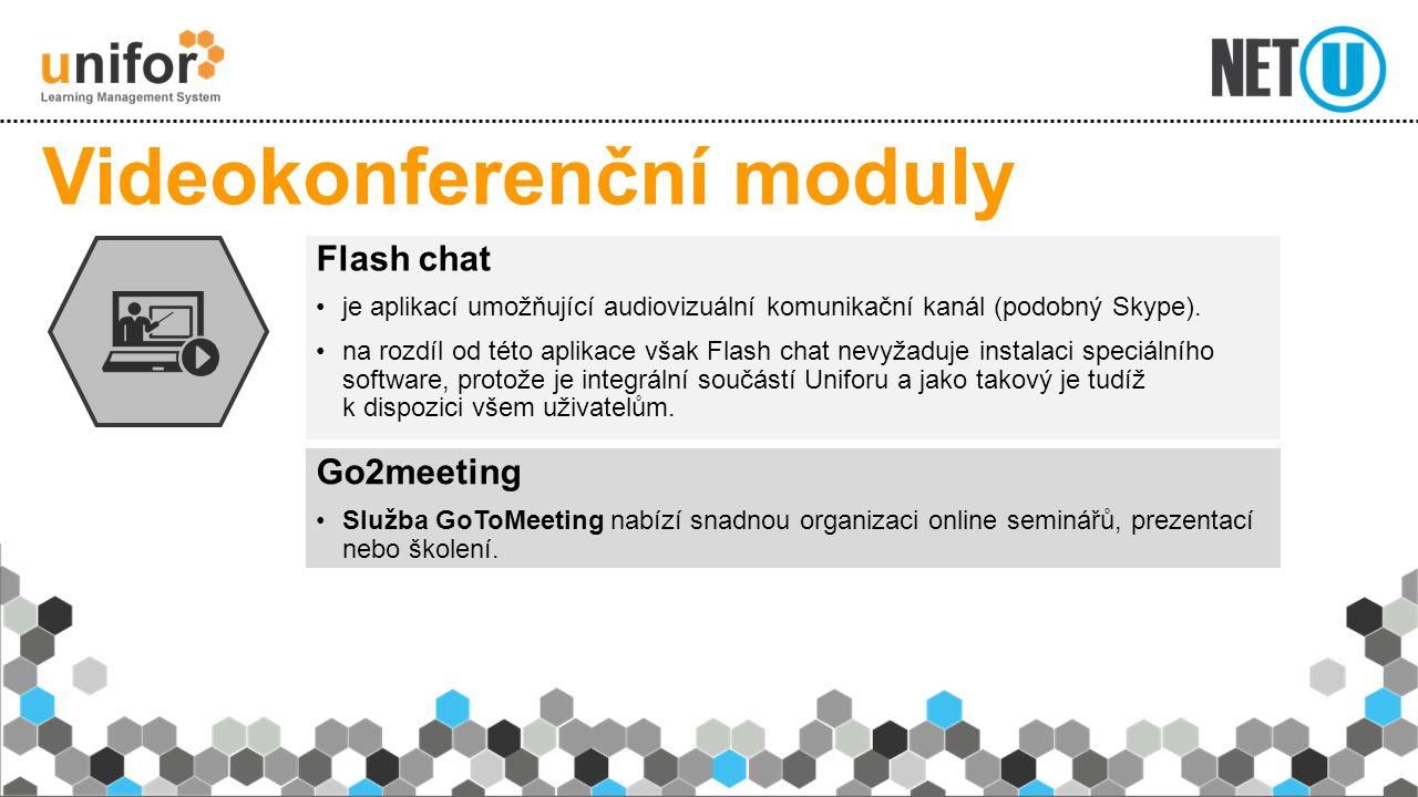 Go2meeting Služba GoToMeeting nabízí snadnou organizaci online seminářů, prezentací nebo školení. Videokonferenční moduly Flash chat je aplikací umožň