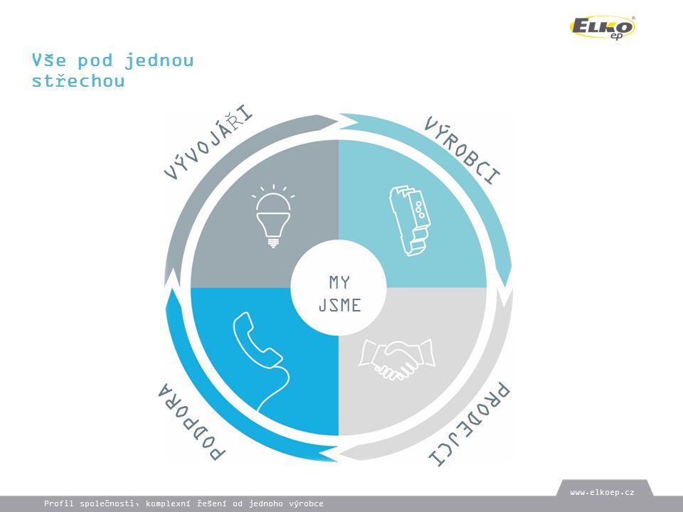 Vše pod jednou střechou MY JSME VÝVOJÁŘI VÝROBCI PRODEJCI PODPORA www.elkoep.cz Profil společnosti, komplexní řešení od jednoho výrobce