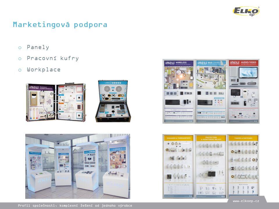 Marketingová podpora o Panely o Pracovní kufry o Workplace www.elkoep.cz Profil společnosti, komplexní řešení od jednoho výrobce