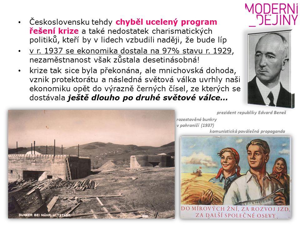 Československu tehdy chyběl ucelený program řešení krize a také nedostatek charismatických politiků, kteří by v lidech vzbudili naději, že bude líp v r.