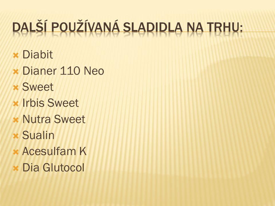  Diabit  Dianer 110 Neo  Sweet  Irbis Sweet  Nutra Sweet  Sualin  Acesulfam K  Dia Glutocol
