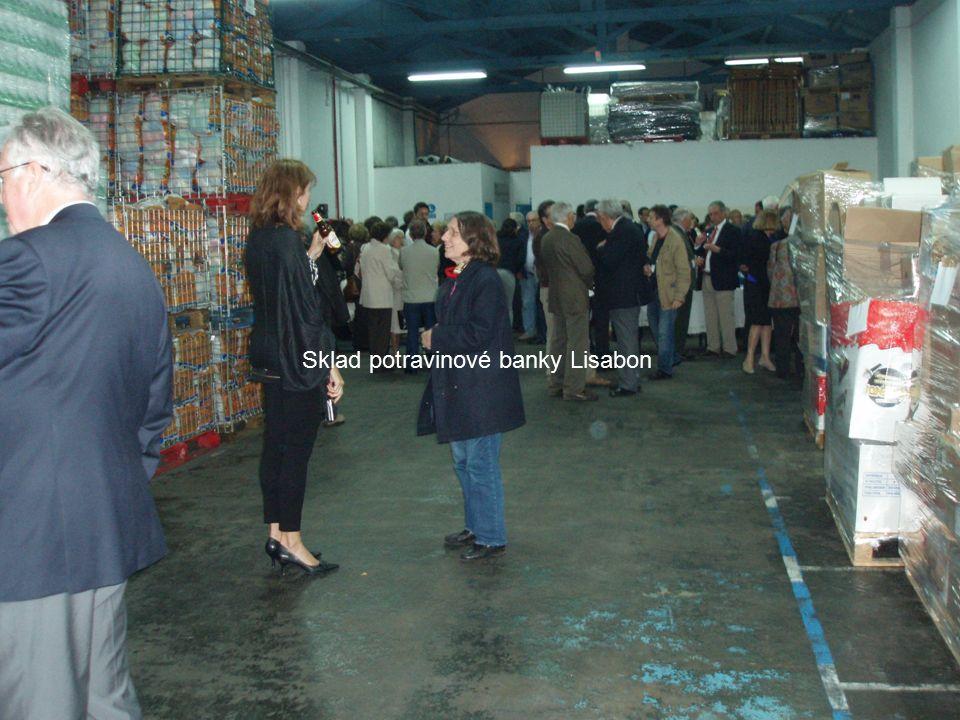 Sklad potravinové banky Lisabon