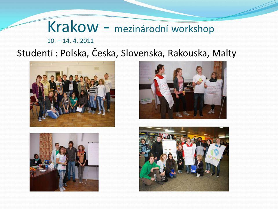 Krakow - mezinárodní workshop 10. – 14. 4. 2011 Studenti : Polska, Česka, Slovenska, Rakouska, Malty