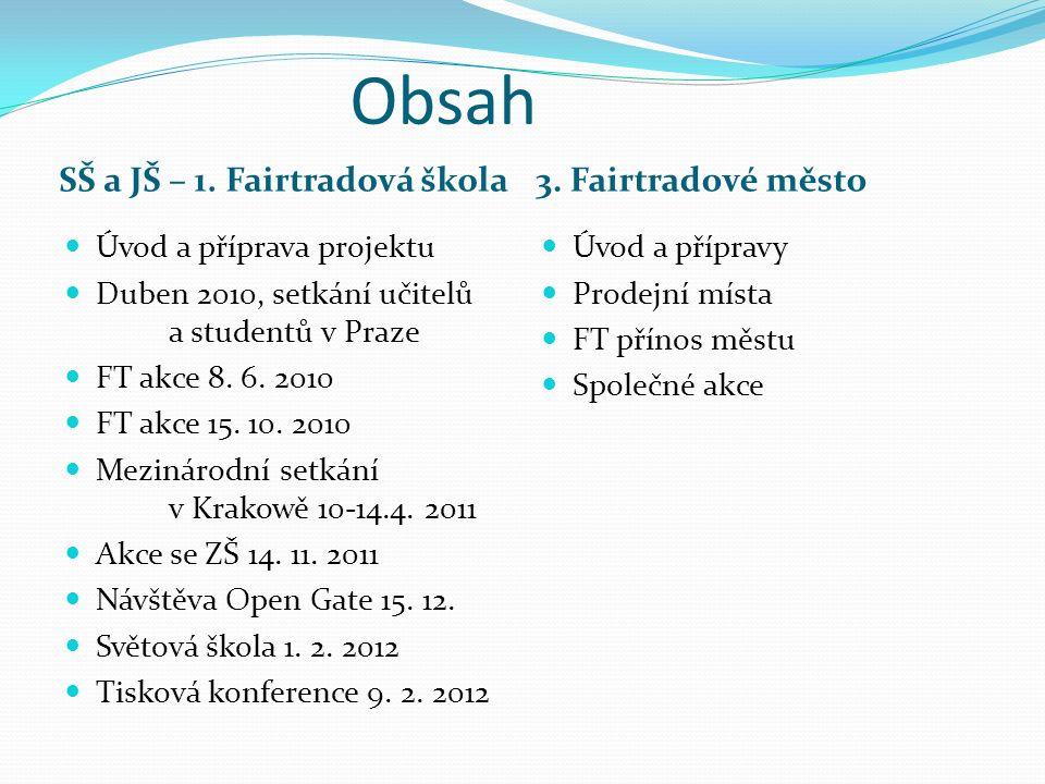 Obsah SŠ a JŠ – 1. Fairtradová škola3.