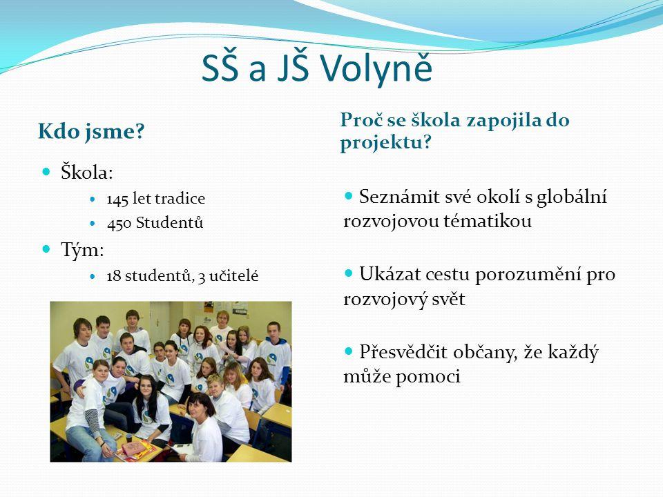 SŠ a JŠ Volyně Kdo jsme. Proč se škola zapojila do projektu.