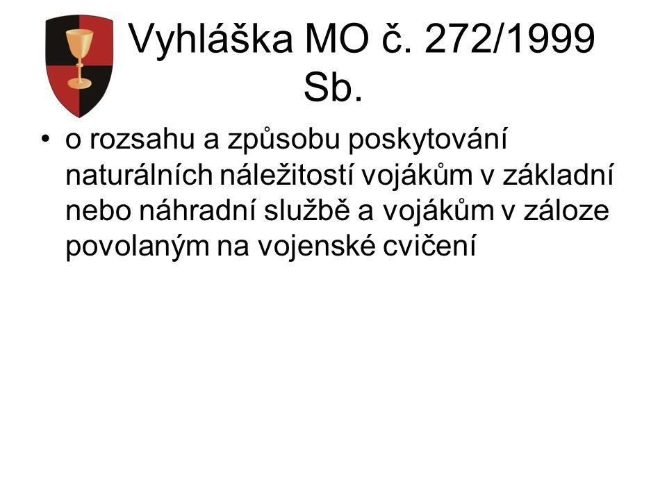 Vyhláška MO č. 272/1999 Sb.