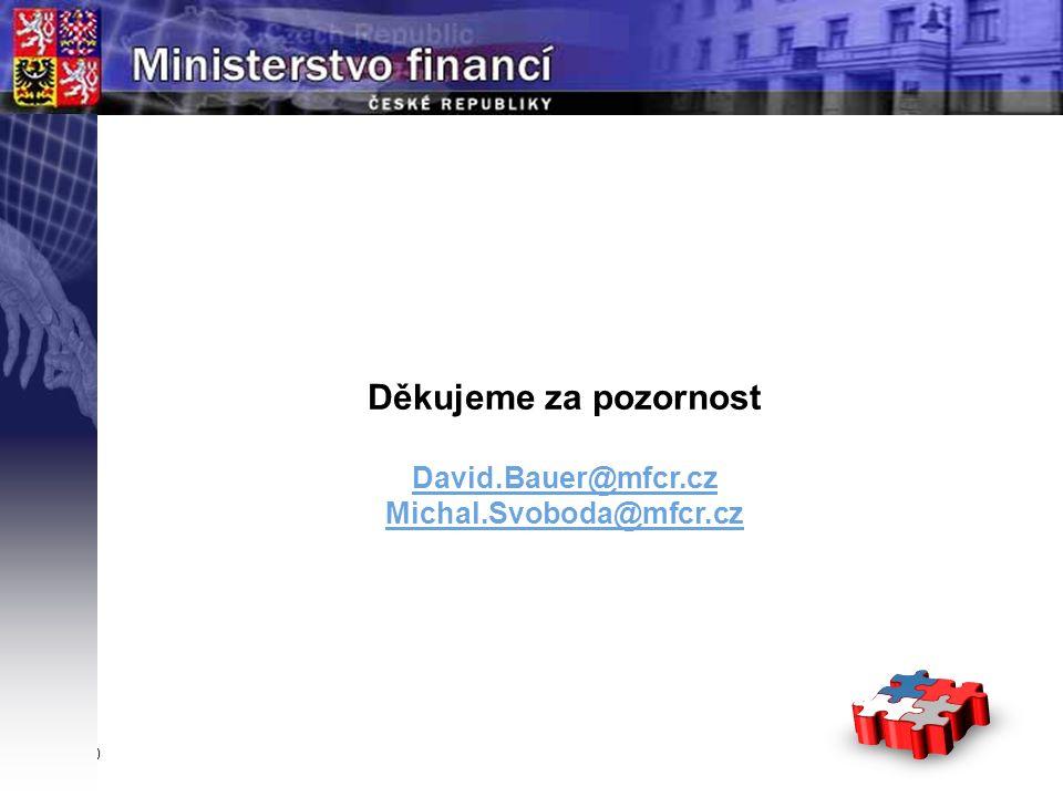 Page  10 YOUR LOGO STÁTNÍ Děkujeme za pozornost David.Bauer@mfcr.cz Michal.Svoboda@mfcr.cz