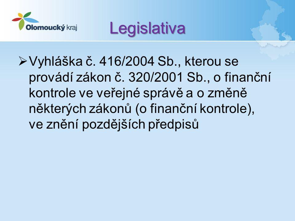 Legislativa  Vyhláška č. 416/2004 Sb., kterou se provádí zákon č.
