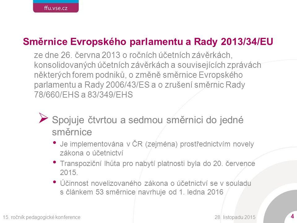 Směrnice Evropského parlamentu a Rady 2013/34/EU ze dne 26.