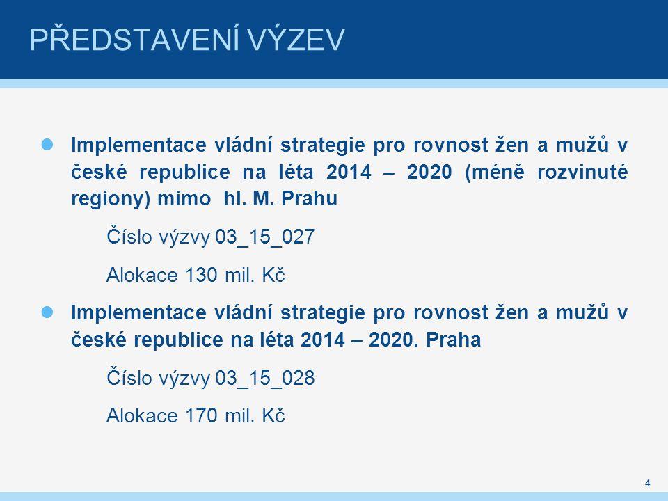 Implementace vládní strategie pro rovnost žen a mužů v české republice na léta 2014 – 2020 (méně rozvinuté regiony) mimo hl.