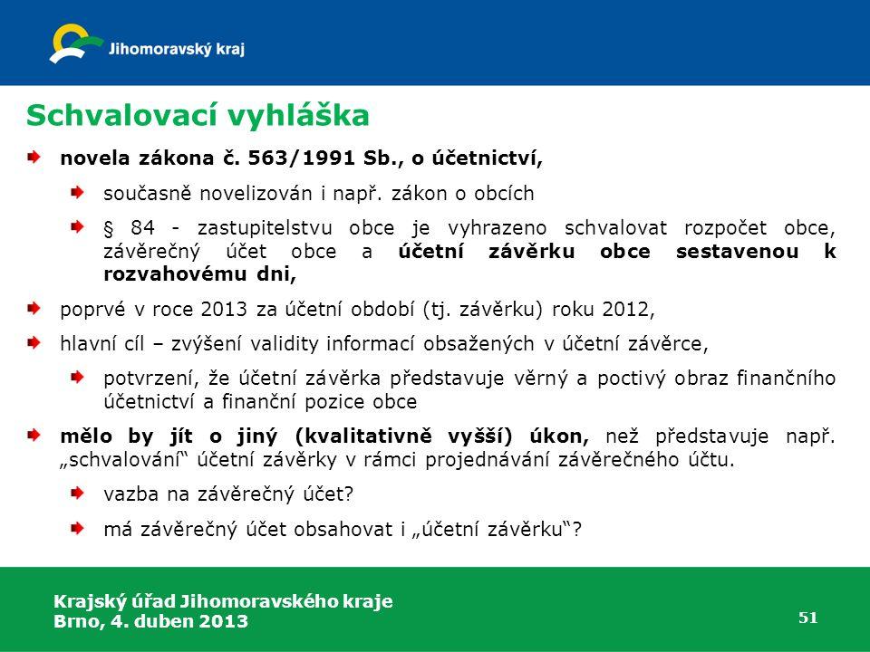 Schvalovací vyhláška novela zákona č.563/1991 Sb., o účetnictví, současně novelizován i např.