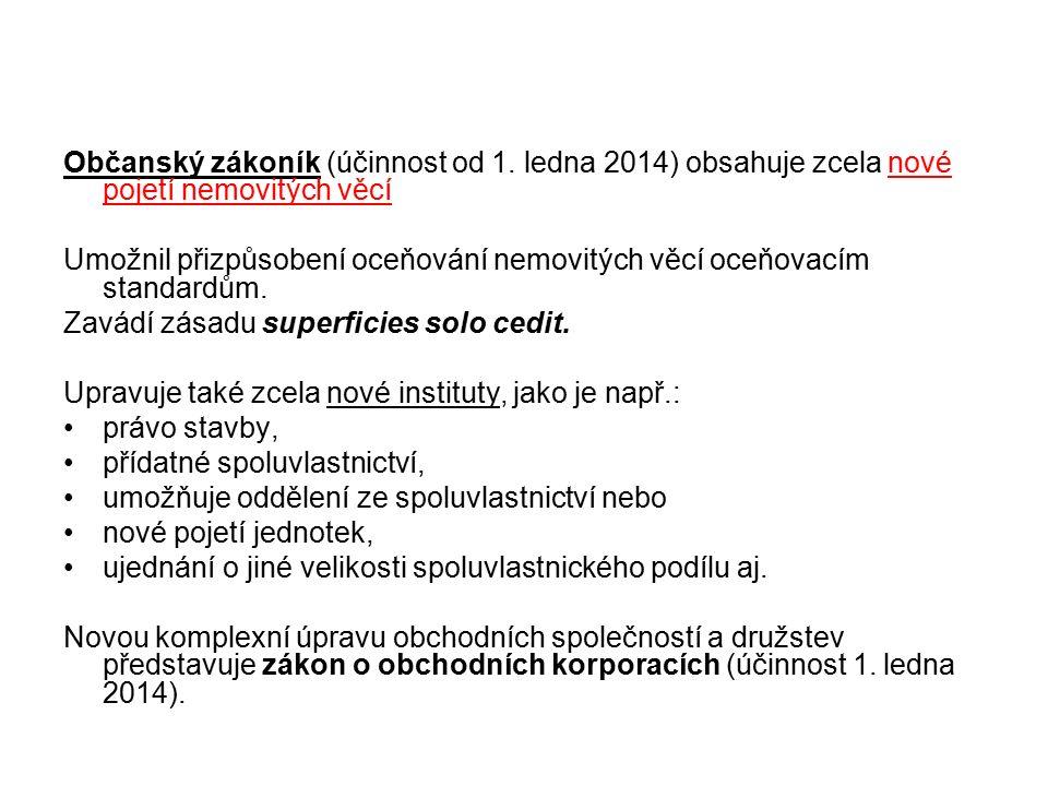 Občanský zákoník (účinnost od 1.
