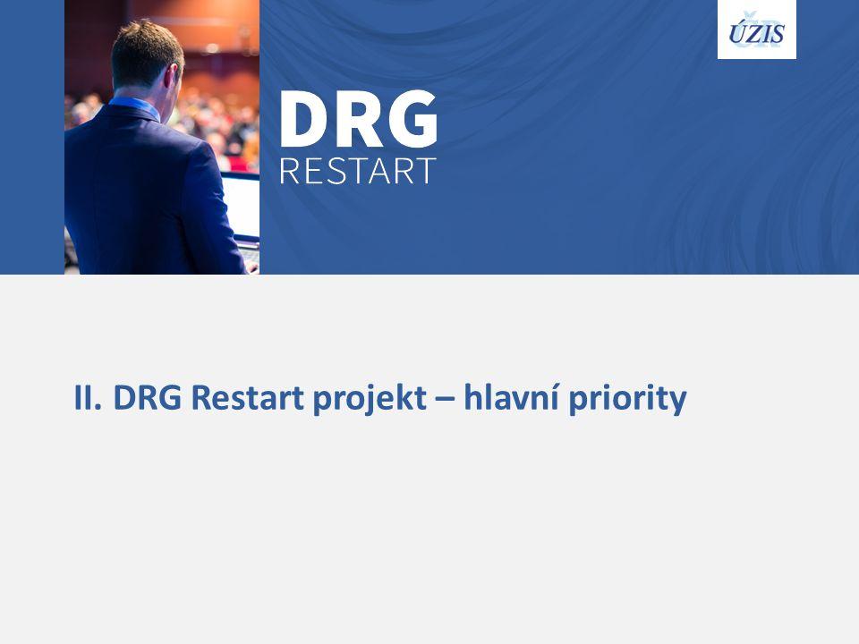 II. DRG Restart projekt – hlavní priority