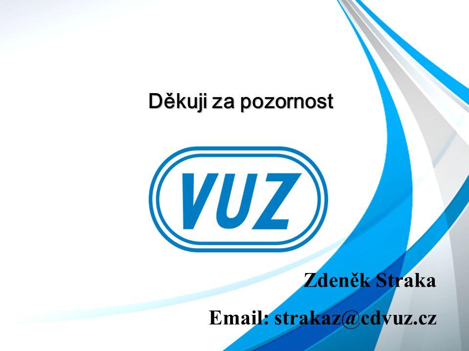 Děkuji za pozornost Zdeněk Straka Email: strakaz@cdvuz.cz