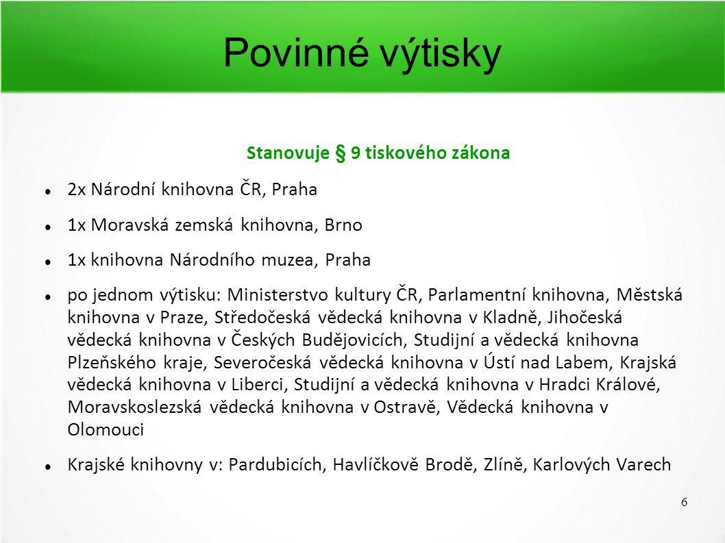 7 Speciálně pro radniční periodika V roce 2013 byl pozměněn zákonem č.