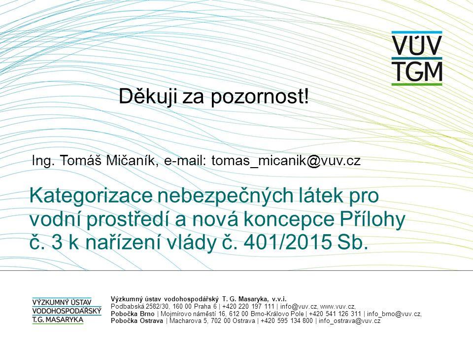 Ing. Tomáš Mičaník, e-mail: tomas_micanik@vuv.cz Výzkumný ústav vodohospodářský T.