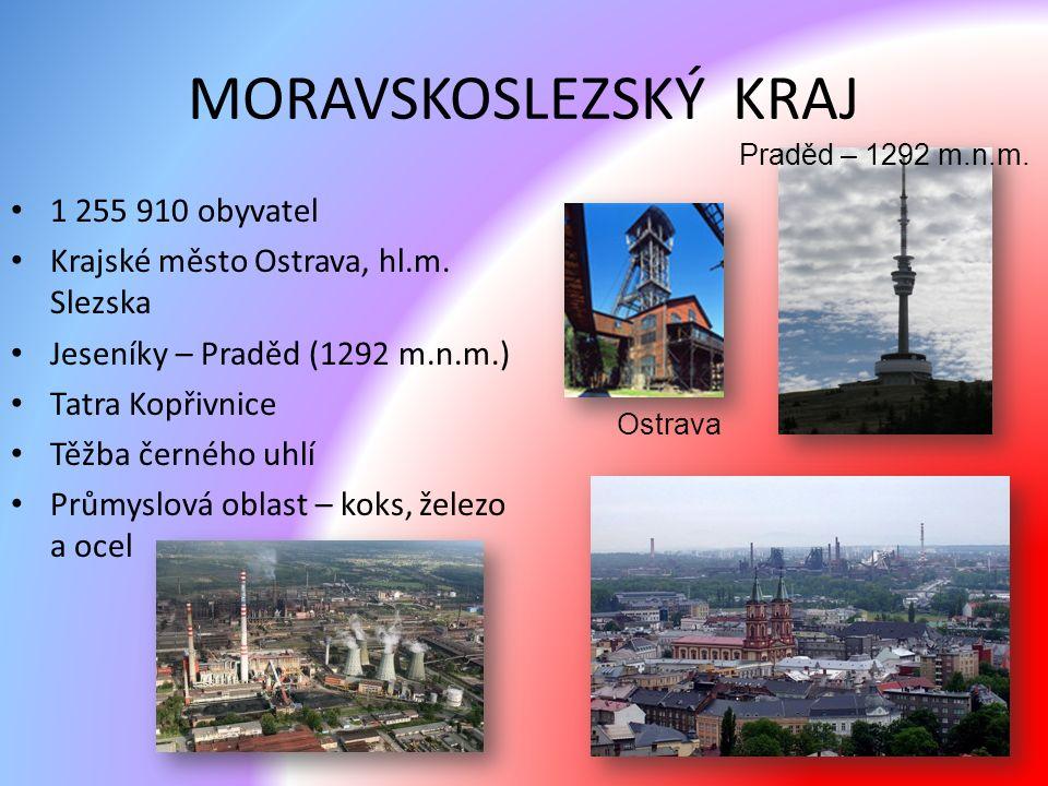MORAVSKOSLEZSKÝ KRAJ 1 255 910 obyvatel Krajské město Ostrava, hl.m.
