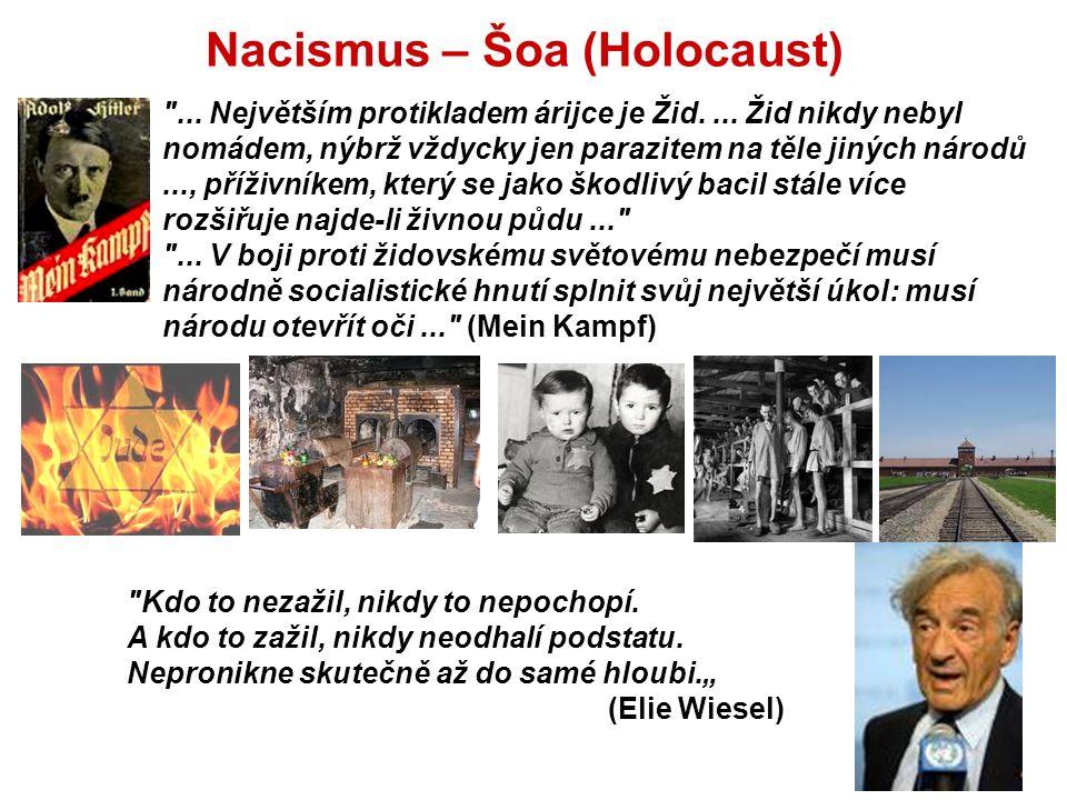Nacismus – Šoa (Holocaust) ... Největším protikladem árijce je Žid....