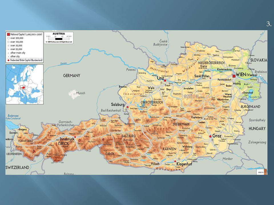  největší část Rakouska je odvodňována Dunajem do Černého moře.