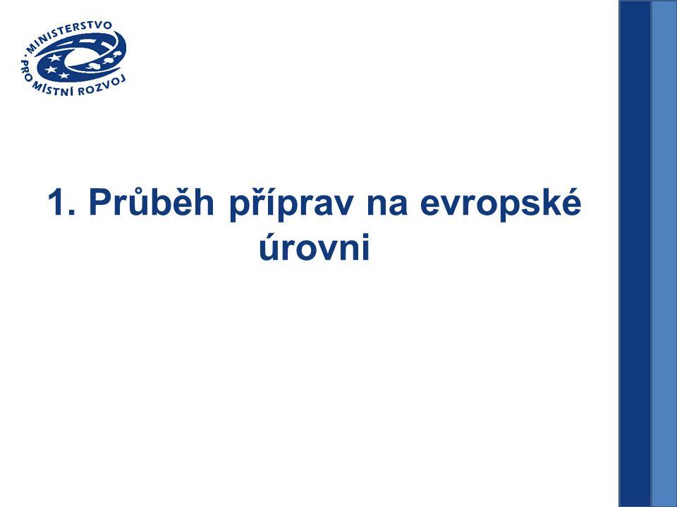 1. Průběh příprav na evropské úrovni