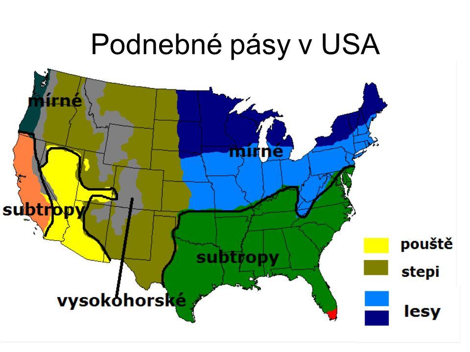 Podnebné pásy v USA