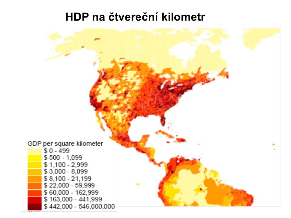 HDP na čtvereční kilometr