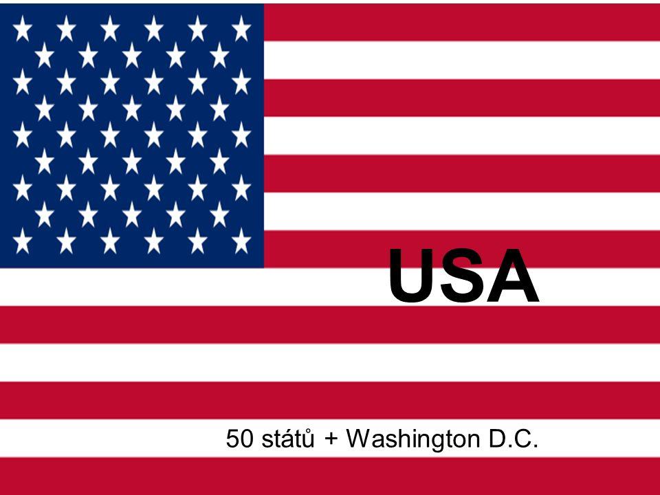 Základní údaje Rozloha: 9 826 630 km² Počet obyvatel: 312 milionů (2011) Nejvyšší hory: McKinley - 6194 m, Whitney - 4418m Nejdelší řeky: Mississippi - Missouri 6020 km Největší jezera: Hořejší jezero (část) 83 270 km² Státní zřízení: federativní prezidentská republika s dvoukomorovým parlamentem – Kongresem Úřední jazyk: angličtina